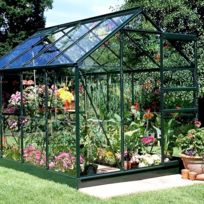 Halls - Serre Forest Green Popular en verre horticole - Modèle : 86 Surface : 5.0 m²