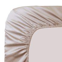 Garnier-Thiebaut - Drap Housse Ava Uni Creme 140x190