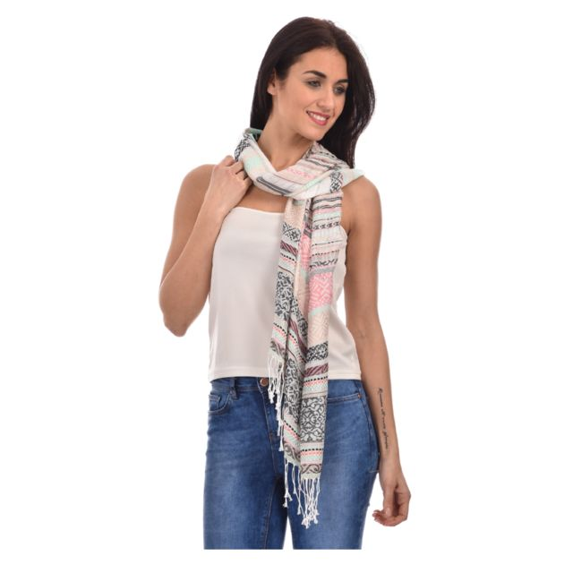 For Her - Foulard Sandra - pas cher Achat   Vente Echarpes, foulards ... 9f15c196b44