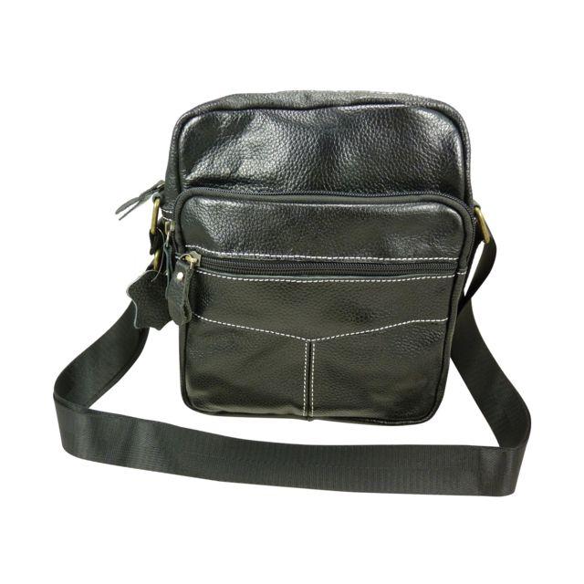 445c0ab22c Chaussmaro - Sac sacoche en bandouliere cuir de vachette - pas cher Achat /  Vente Pochettes bandoulière - RueDuCommerce