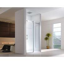 lifestyle proaktiv 100x195cm porte de niche cabine de douche systme coulissant sans bac - Douche Sans Porte