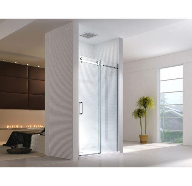 lifestyle proaktiv 115x195cm porte de niche cabine de douche syst me coulissant sans bac. Black Bedroom Furniture Sets. Home Design Ideas