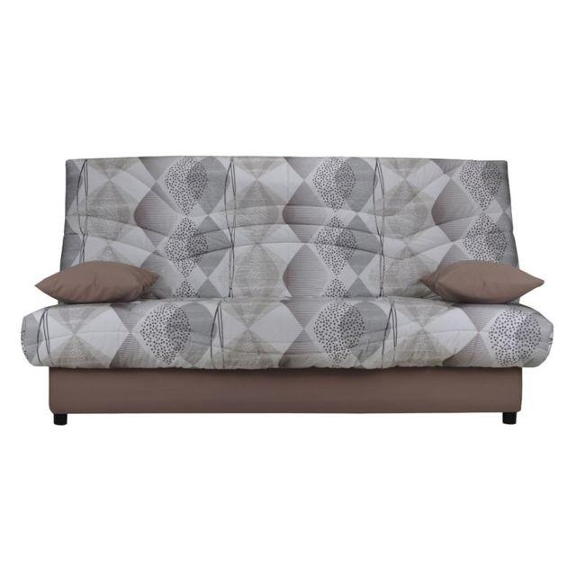 tousmesmeubles banquette lit clic clac matelas hr 130 cm speed tsar n 14 gris 95cm x 193cm. Black Bedroom Furniture Sets. Home Design Ideas