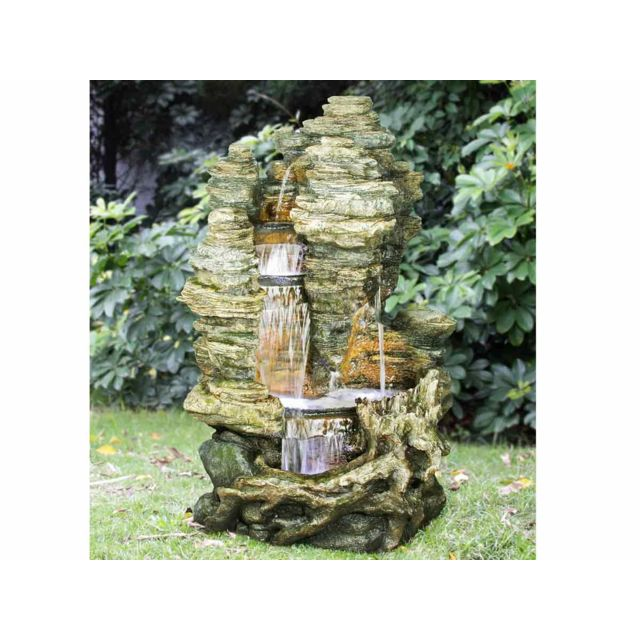 fontaine cascade solaire fontaine cascade solaire en terracotta fontaine de jardin solaire. Black Bedroom Furniture Sets. Home Design Ideas