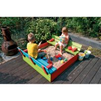 - Bac à sable couleur en bois L. 118 x L. 118 cm