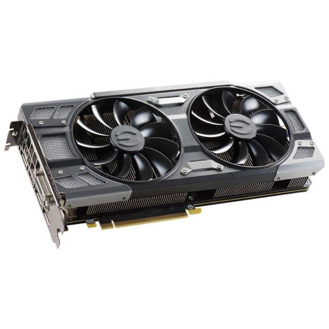 EVGA GeForce GTX1080 ForTheWin Gaming ACX3.0 Cooling FTW La GeForce GTX 1080 FTW GAMING ACX 3.0 est conçue avec la nouvelle architecture Pascal (gravure 16 nm et mémoire GDDR5X). Bien plus puissante que ses consœurs de gén&eacut