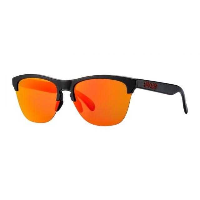 e8990b634ab729 Oakley - Lunettes Frogskins Lite Black   Prizm Ruby - pas cher Achat   Vente  Lunettes Tendance - RueDuCommerce