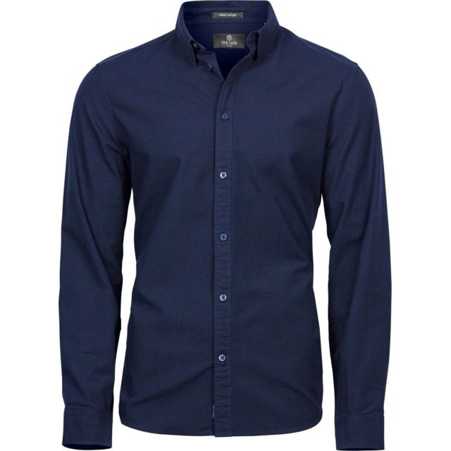 Tee-jays Chemise homme Casual Oxford - 4010 - bleu marine - manches longues