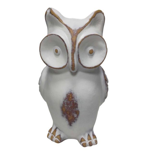 Hibou ornement figurine animale pour la décoration de la chambre blanche hibou blanc