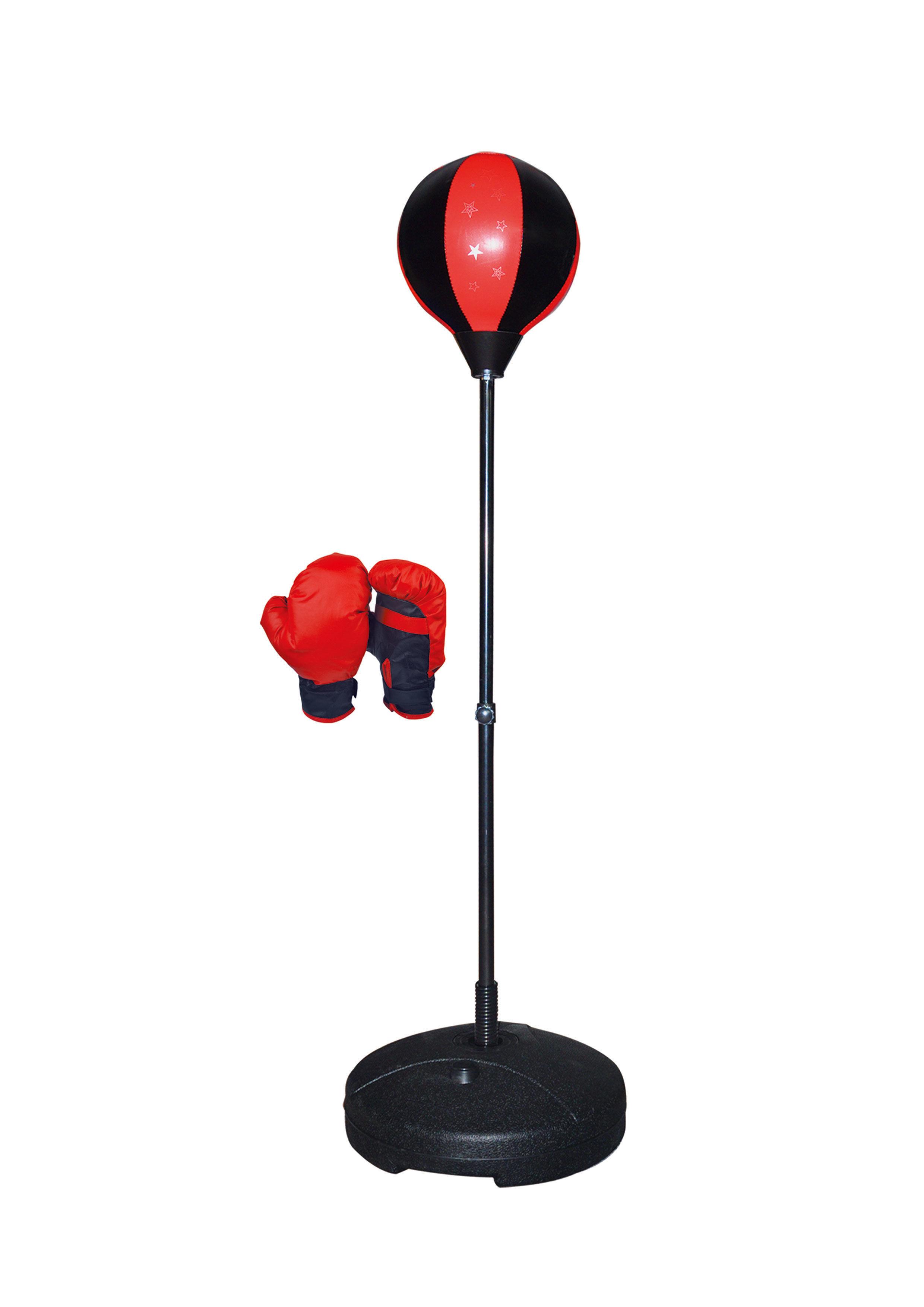 Punching ball junior H: 90 à 135 cm - Noir/rouge - OD100263