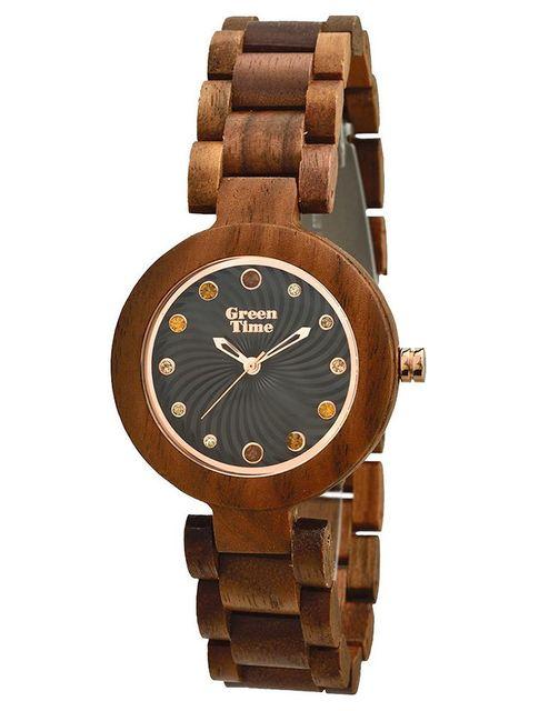 green time montre zw054a marron achat vente montre analogique pas ch re rueducommerce. Black Bedroom Furniture Sets. Home Design Ideas
