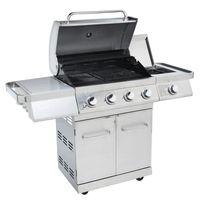 LE BARBECUE - Barbecue gaz GZ500 4 feux + réchaud Premium - 16,5 kW - 720-0915