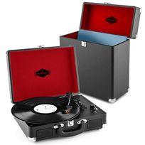 AUNA - Peggy Sue Record Collector Set Tourne-disque rétro + Valise à vinyles - noi