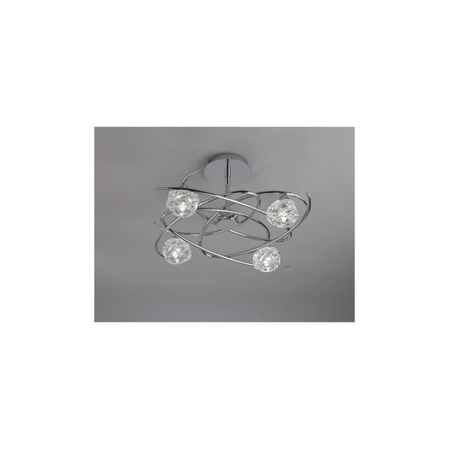 boutica design plafonnier maremagnum chrom 4x43w mantra 3943 0cm x 0cm x 0cm pas cher. Black Bedroom Furniture Sets. Home Design Ideas
