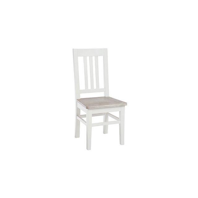 Chaise 44x45x96cm en bois et blanc