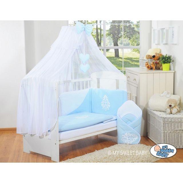 autre lit et parure de lit b b compl te glamour bleu 140. Black Bedroom Furniture Sets. Home Design Ideas