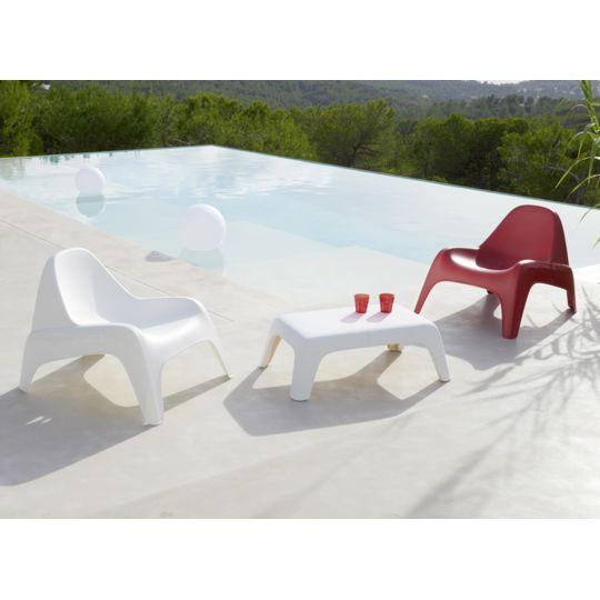 Fauteuil de jardin Relax Blanc à Prix Carrefour