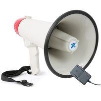 VEXUS - MEG040 Mégaphone 40w fonction enregistrement sirène microphone sur piles