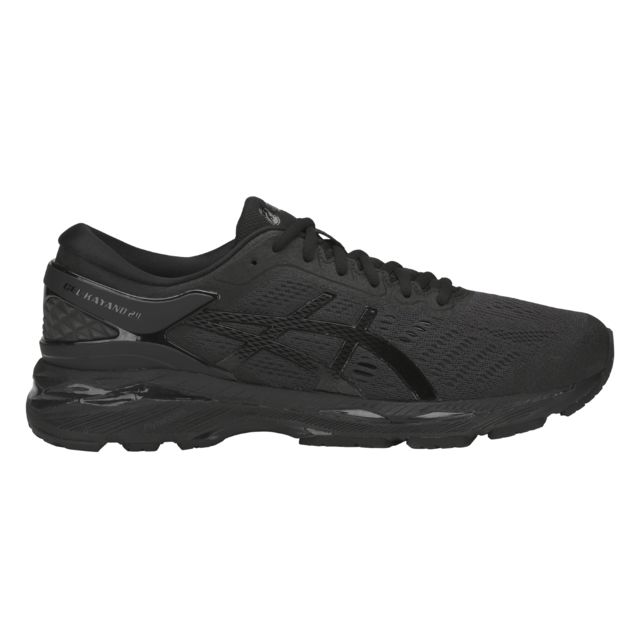 d0c479f9c725c Asics - Chaussures Gel-Kayano 24 noir gris carbone - pas cher Achat   Vente  Chaussures running - RueDuCommerce