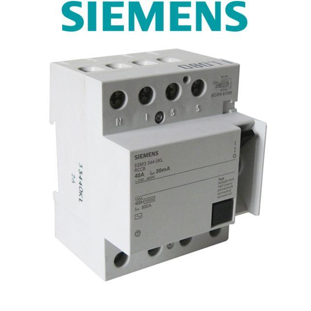 Siemens - Interrupteur différentiel 4 pôles 30 mA 40 A Type Ac - pas cher  Achat   Vente Interrupteurs différentiels - RueDuCommerce db0a73e093cc