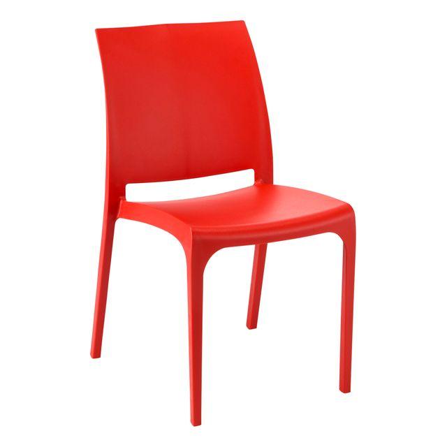 rue du commerce chaise de jardin volga rouge pas cher achat vente chaises de jardin. Black Bedroom Furniture Sets. Home Design Ideas