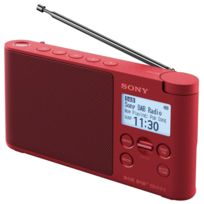SONY - radio portable numérique rouge - xdrs41dbp rouge