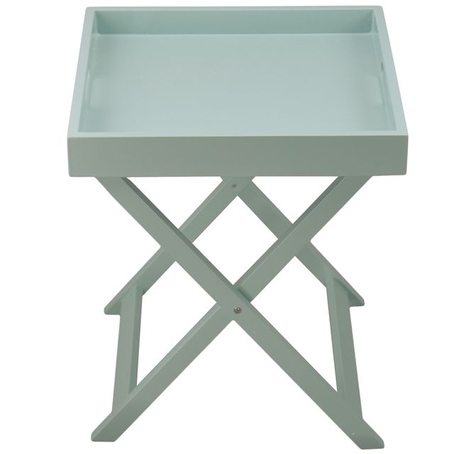 incidence table plateau pliante colorama vert amande 40cm x 41cm x 46cm pas cher achat. Black Bedroom Furniture Sets. Home Design Ideas