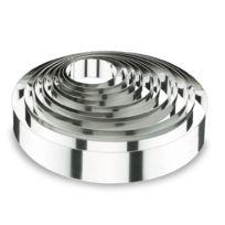 Lacor - Cercle à mousse en inox 18/10 - hauteur 4cm - diamètre 7,5cm - Cercle à mousse