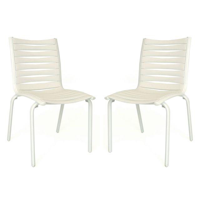 Evolutif - Chaises de jardin empilables en Aluminium et ...