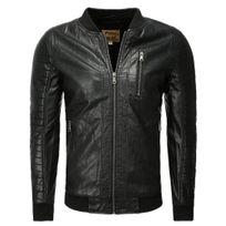 Marque Generique - Blouson cuir pour homme Blouson tendance 1027 noir