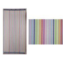 Jardideco - Rideau de porte moustiquaire Moustirayures - 160 x 220 cm