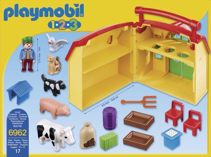 playmobil ferme transportable avec animaux 6962 pas cher achat vente playmobil. Black Bedroom Furniture Sets. Home Design Ideas
