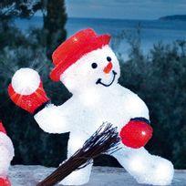 Blachère illumination - Bonhomme de neige boule de neige