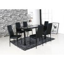 Table verre salle manger 6 chaises - catalogue 2019 - [RueDuCommerce ...
