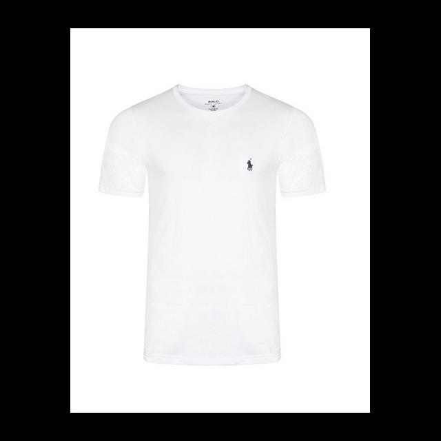 Ralph Lauren - T-shirt Blanc Col Rond Taille Xl - pas cher Achat   Vente Tee  shirt homme - RueDuCommerce 0788b8fac59