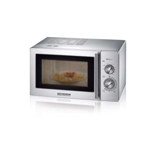 Severin micro-ondes grill Mw 7869 inox brossé - 22 L - 900 W - Grill 1000 W - Pose libre