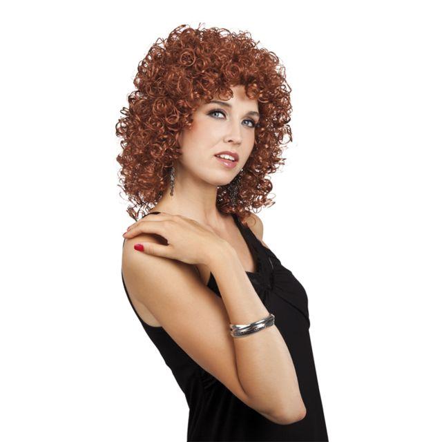 Perruque bouclée marron femme - taille -