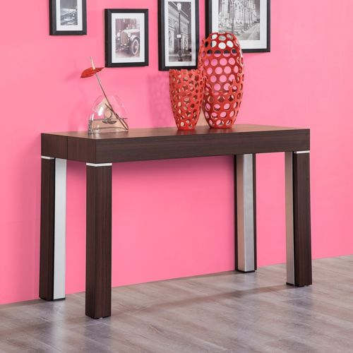Ego design table console extensible stacy bois marron 3m - Table a tapisser 3m ...