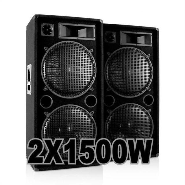 Ibiza Sound Pack 3000w avec 2 enceintes 1500w 100% canon