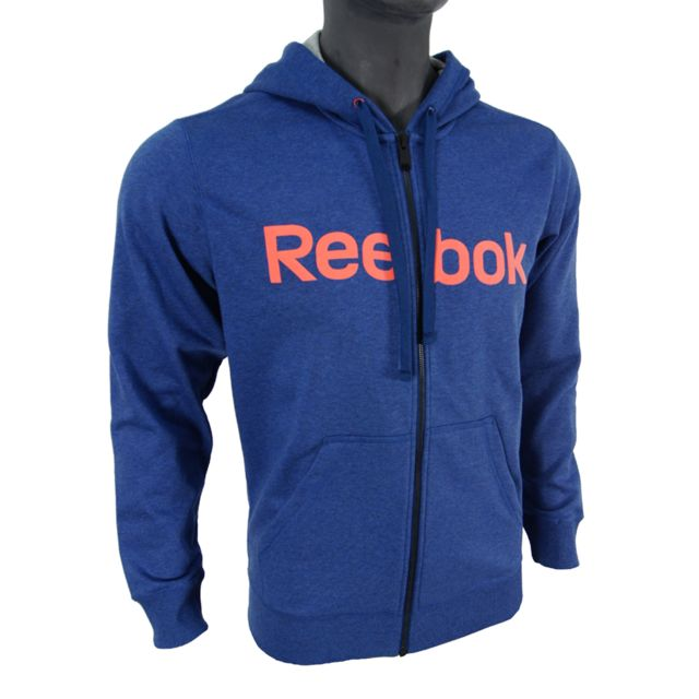 Reebok Sweat Shirt à capuche El Logo Full Zip Bleu pas