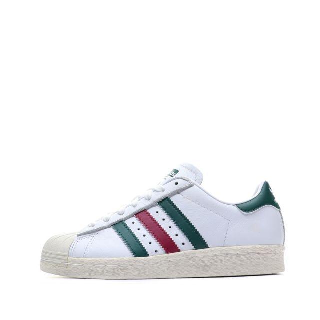 Superstar 80S Chaussures Blanc GarçonHomme Multicouleur 36 23