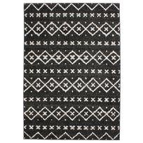 Mon Beau Tapis - Tapis ethnique scandinave noir 133x190cm Florence Sueden
