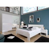 chambre blanc laque - Achat chambre blanc laque pas cher - Rue du ...