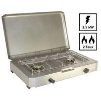 Providus - Plaque de cuisson Ft 200. Rechaud camping gaz 2 feux pour bouteille de gaz 13 kg