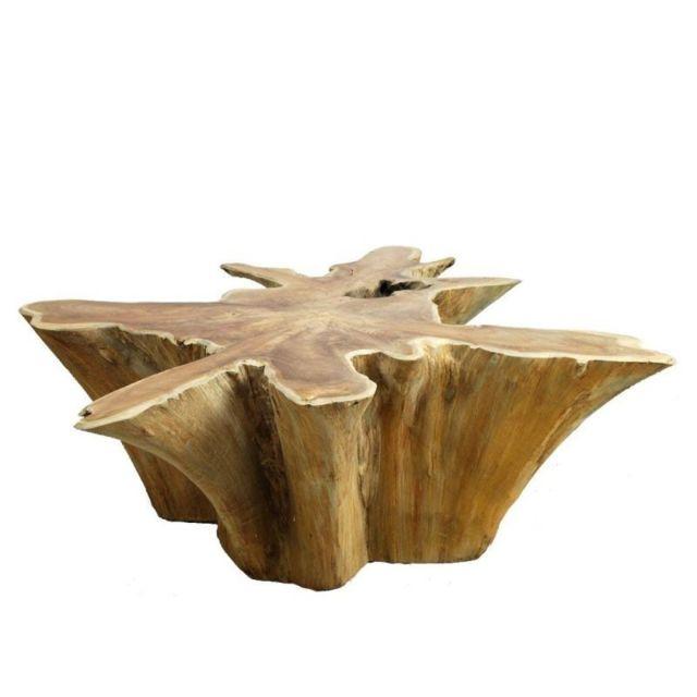 Meubletmoi Table basse 100 cm en racine de teck -teak 04