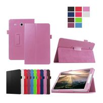 Xeptio - Samsung Galaxy Tab E 9.6 pouces Cuir Style rose avec Stand - Etui coque de protection tablette
