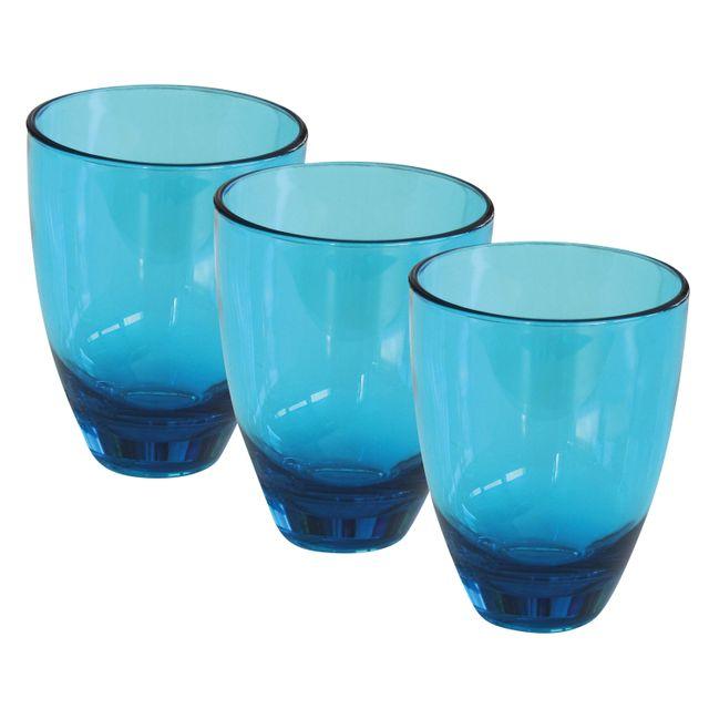 Incasa Pack 3 verres Massa bleu 18 cl