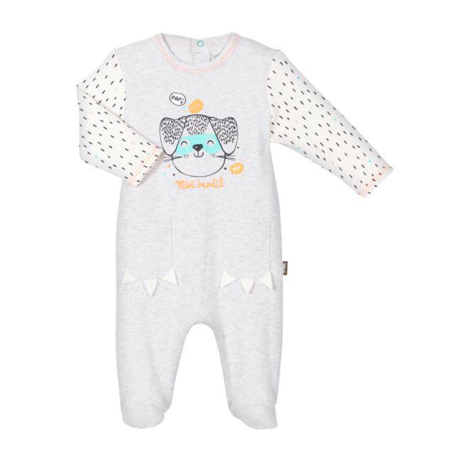 c5b1515e616bd Petit Beguin - Pyjama bébé Mini Bandit - Taille - 6 mois - pas cher ...