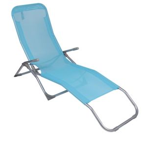 Sunnydays transat corfu avec accoudoirs bleu pas for Transat piscine carrefour