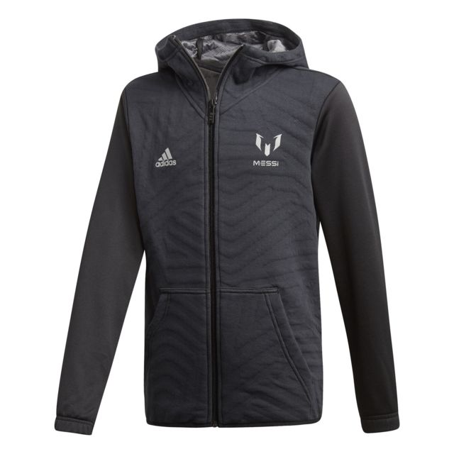 buy online 6656c d64d9 Adidas - Veste Adidas Veste Messi Hoodie Noir Enfant